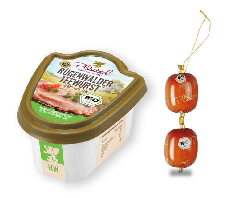 Plüntsch Bio Rügenwalder Teewurst® fein