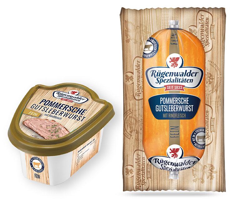 Pommersche Gutsleberwurst mit Rindfleisch fein