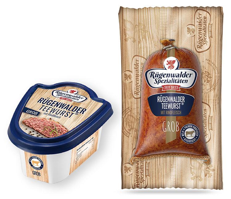 Rügenwalder Teewurst® mit Rindfleisch grob